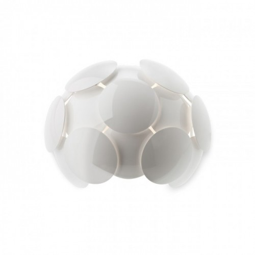 Aplică pentru interior Joy, structură din metal vopsită în câmp electrostatic culoare albă, dispersoare din policarbonat vopsit alb lucios. 01-724 Redo