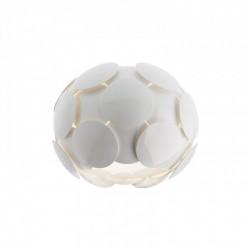 Plafonieră pentru interior Joy, structură din metal vopsită în câmp electrostatic culoare albă, dispersoare din policarbonat vopsit alb lucios. 01-725