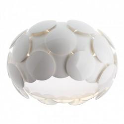 Plafonieră pentru interior Joy, structură din metal vopsită în câmp electrostatic culoare albă, dispersoare din policarbonat vopsit alb lucios. 01-727 Redo