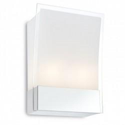 Aplică pentru interior Lucio, corp din inox eloxat, dispersoare din sticlă sablată cu margine transparentă. 01-751 Redo