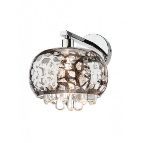 Aplica Ambiance  structura din metal  cromat si decoratiuni din sticla 01-1012 Smarter