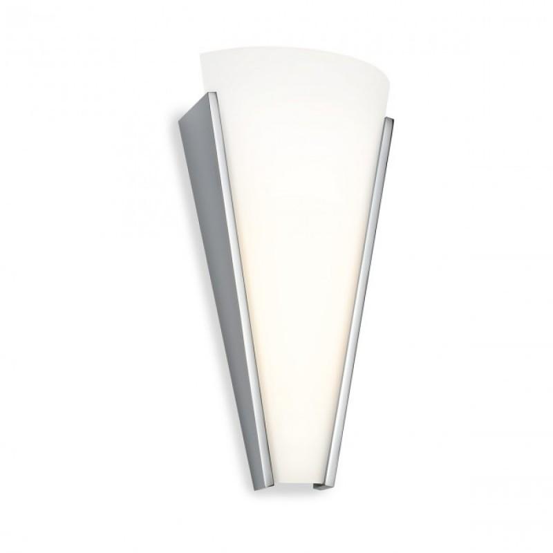 Aplica Flame echipata cu LED structura metal cromat dispersor sticla opala 01-1089 Redo