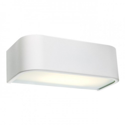 Aplica Screen echipata cu LED-uri SMD structura din metal vopsit in alb mat 01-1120 Redo