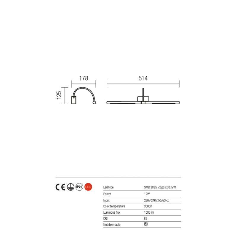 Aplica Kendo pentru interior echipata cu LED-uri SMD structura din metal cromata 01-1137 Redo