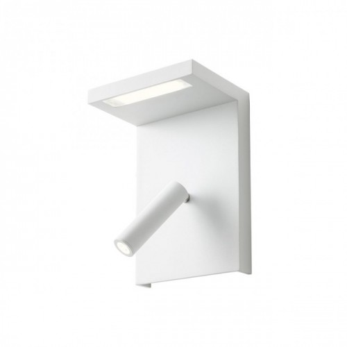 Aplica Agos echipata LED structura aluminiu alb cu port USB , intrerupator, polita 01-1499 Redo