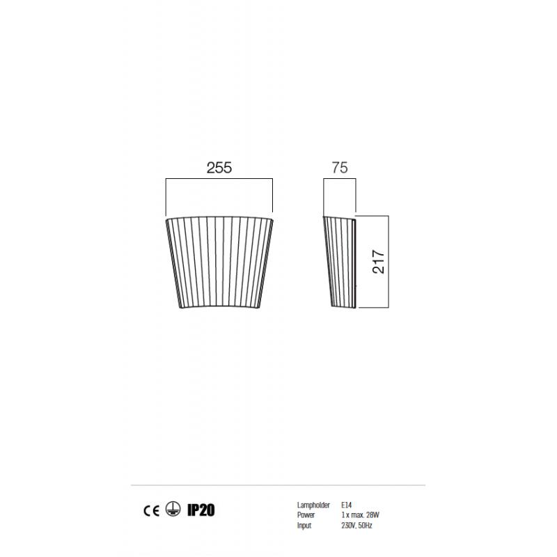 Aplica Today structura din metal si dispersor din sticla 01-575 Redo