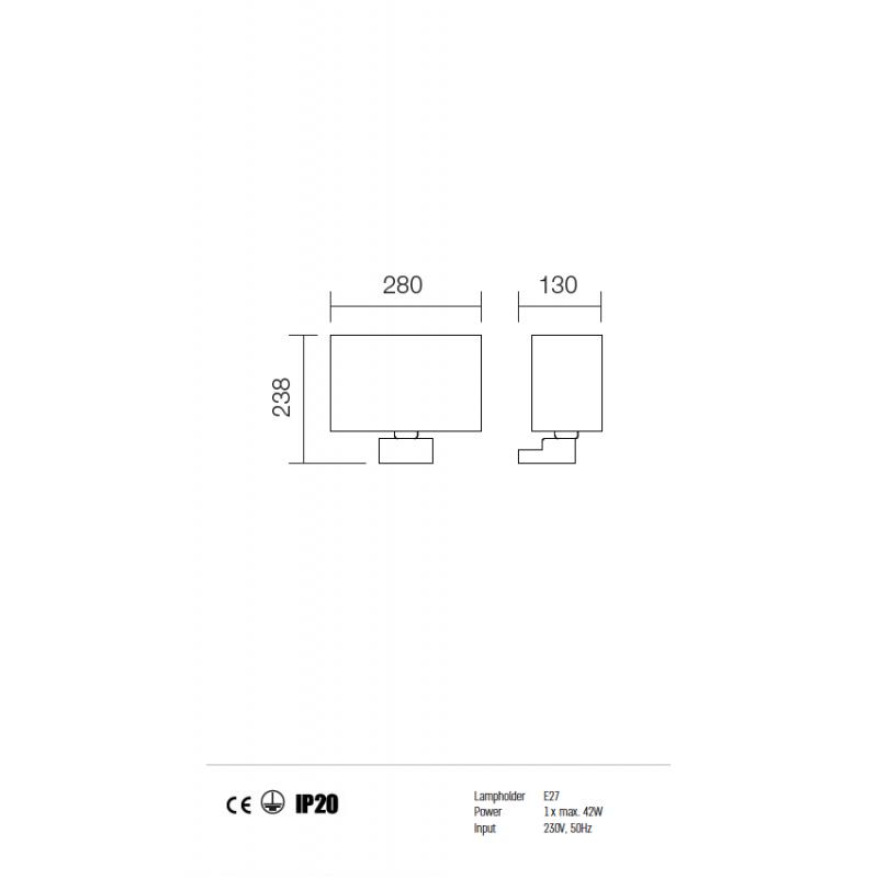 Aplica Enjoy structura din metal cu abajur bej 01-678 BG Redo