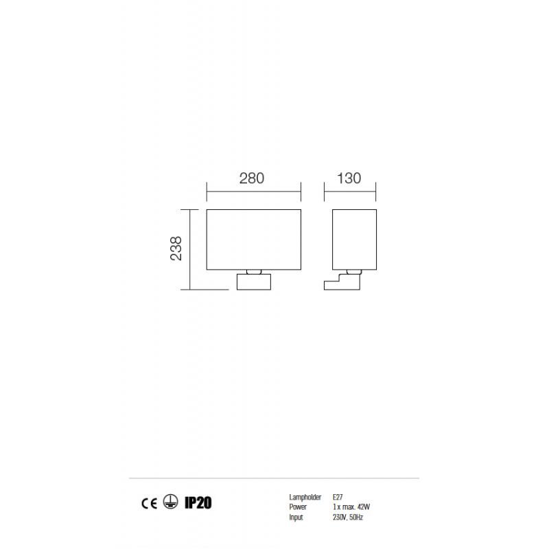 Aplica Enjoy structura din metal cu abajur negru 01-678 BK Redo