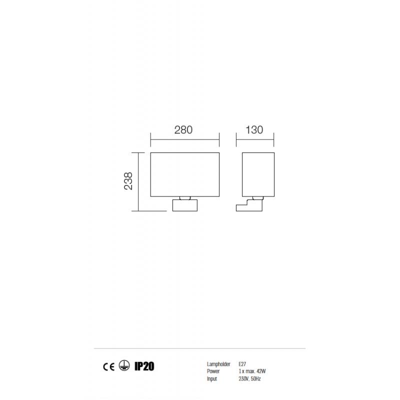 Aplica Enjoy structura din metal cu abajur alb 01-678 WH Redo