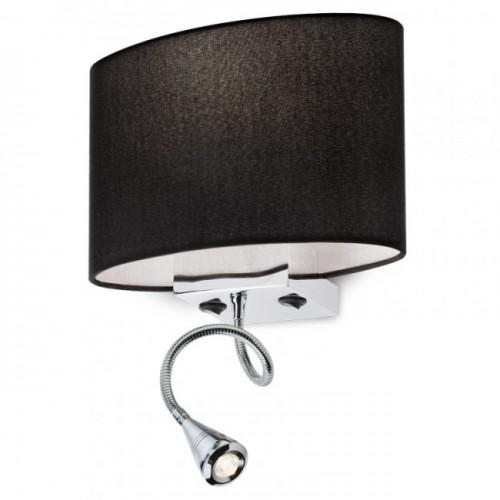 Aplica cu brat flexibil Enjoy structura din metal cu abajur negru 01-679 BK Redo
