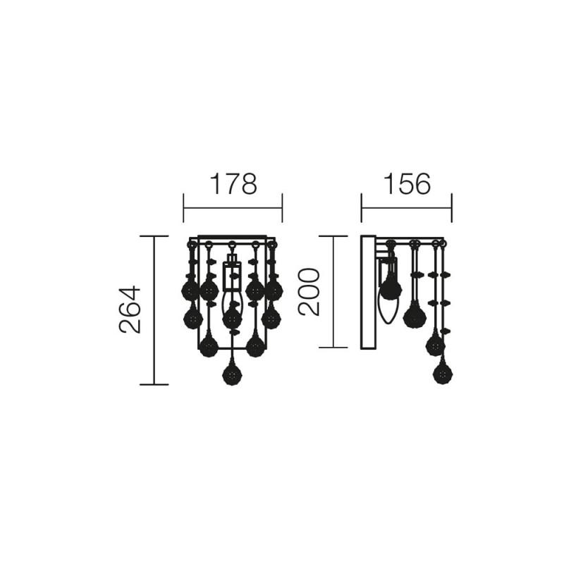 Aplica Drops structura din inox si metal cromat 01-880 Smarter