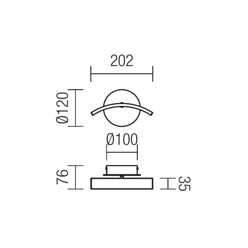 Aplica Onda structura din aluminiu echipata cu Led-uri SMD 01-900 Smarter