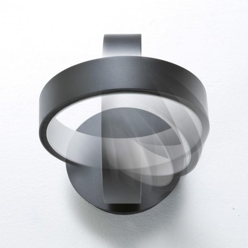 Aplica/Plafoniera Atomo echipata cu LED structura metal negru mat cu alb 01-946 Redo