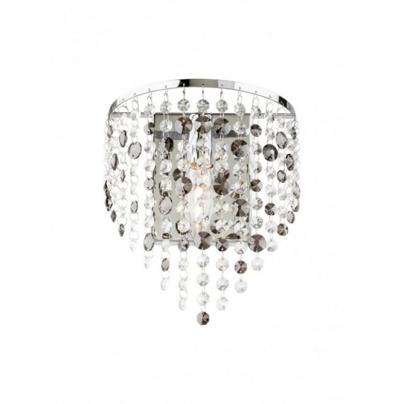 Aplica Cascade din inox si metal cromat cu decoratiuni din cristal 02-374 Smarter