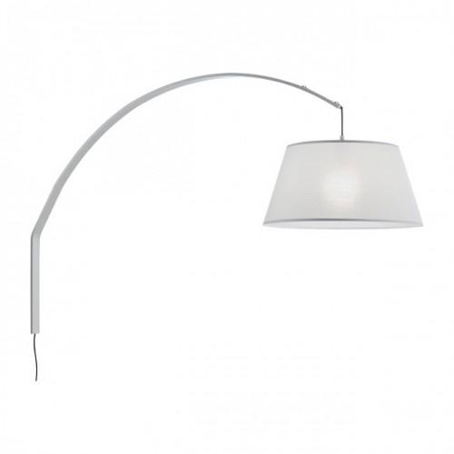 Aplica Swap pentru interior structura din metal vopsit in alb abajur din material textil pe suport PVC alb 02-379 Redo