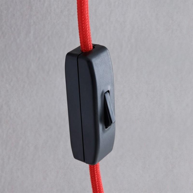 Aplica Swap pentru interior structura din metal vopsit in negru abajur din material textil pe suport PVC 02-380 Redo