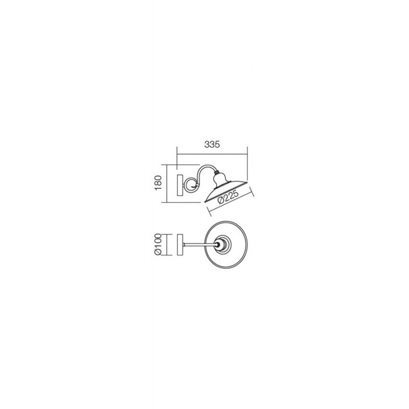 Aplica Lena structura metalica E27 02-755 Incanti