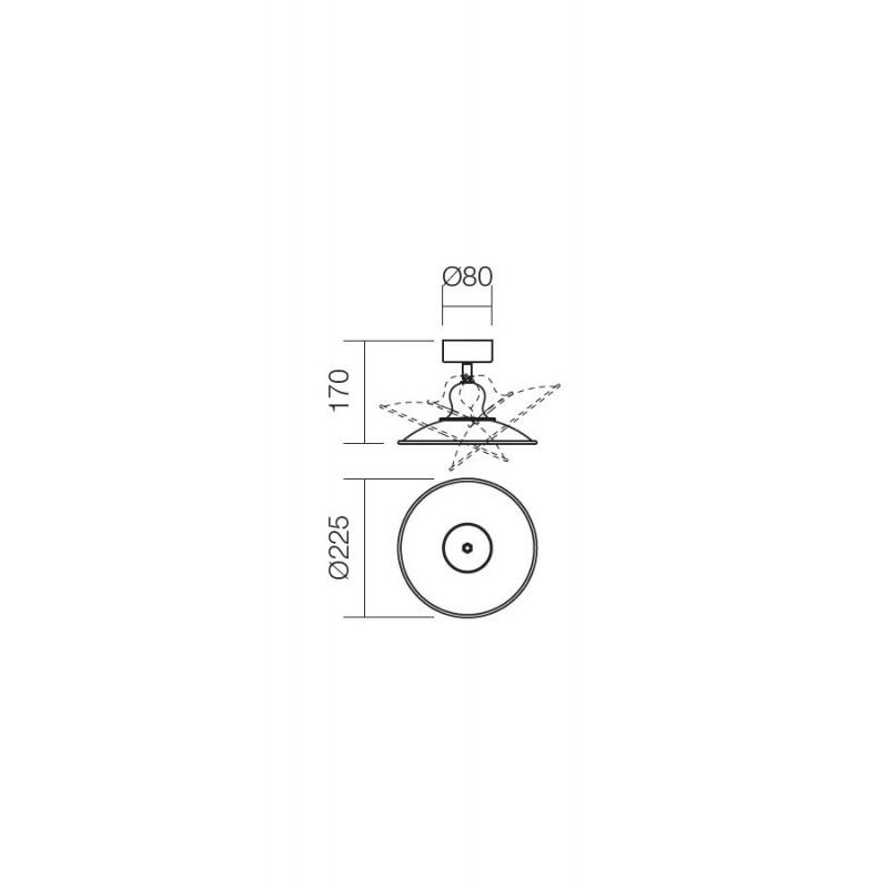 Aplica/Plafoniera Lena reglabila structura metalica E27 02-756 Incanti
