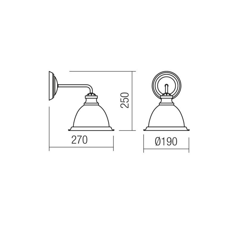 Aplica Edel structura metalica si abajur din sticla 02-889 Smarter