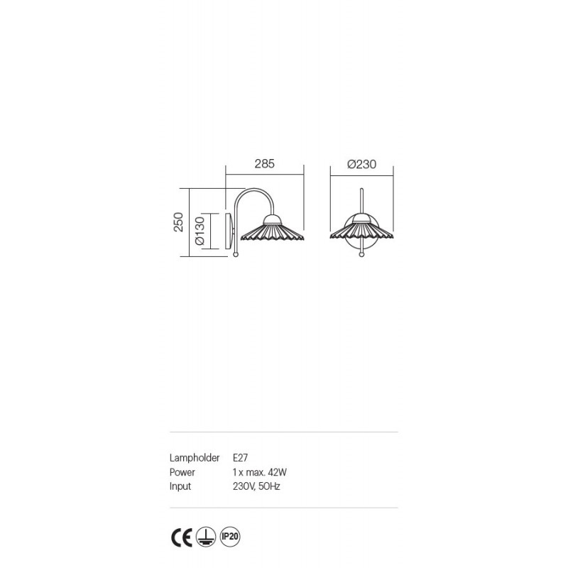Aplica Orietta structura metalica abajur din ceramica 02-745 Incanti