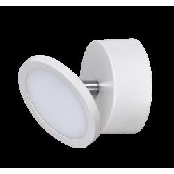 Aplica Elsa structura din metal alb mat cu LED-uri si abajur din plastic 2713