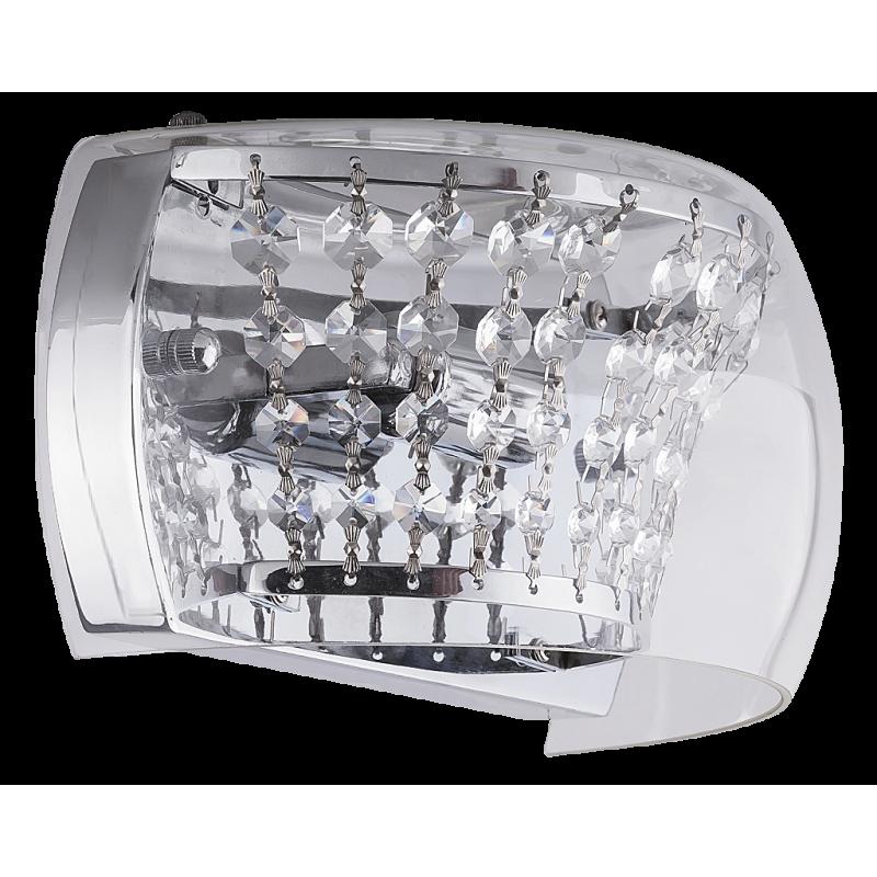 Aplica Samantha structura din metal abajur din sticla si decoratiuni din cristal de sticla 2750 Rabalux