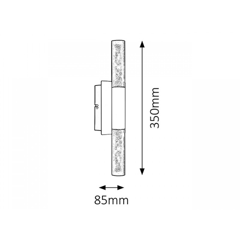 Aplica Rheia LED structura din metal si abajur din plastic 5765 Rabalux