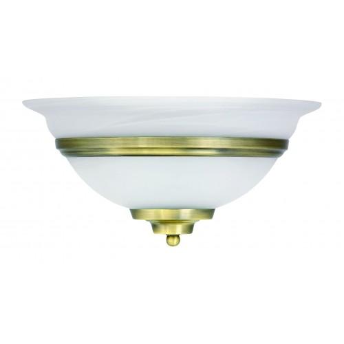 Aplica Toledo structura metalica alama, abajur sticla alb mat E27 6897 Globo