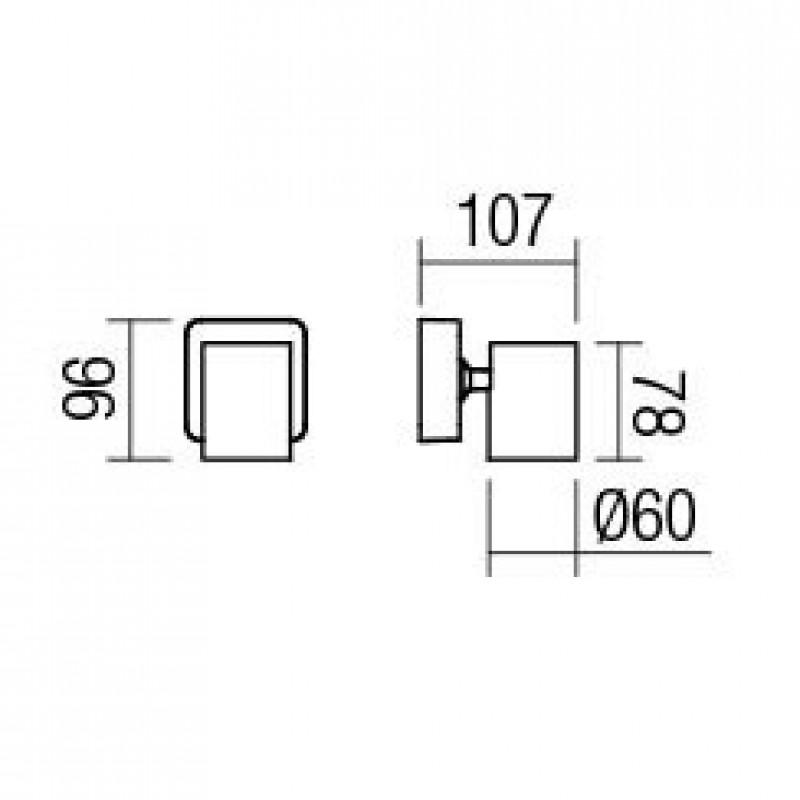 Aplica Cameo 04-467, 1 x GU10, alba