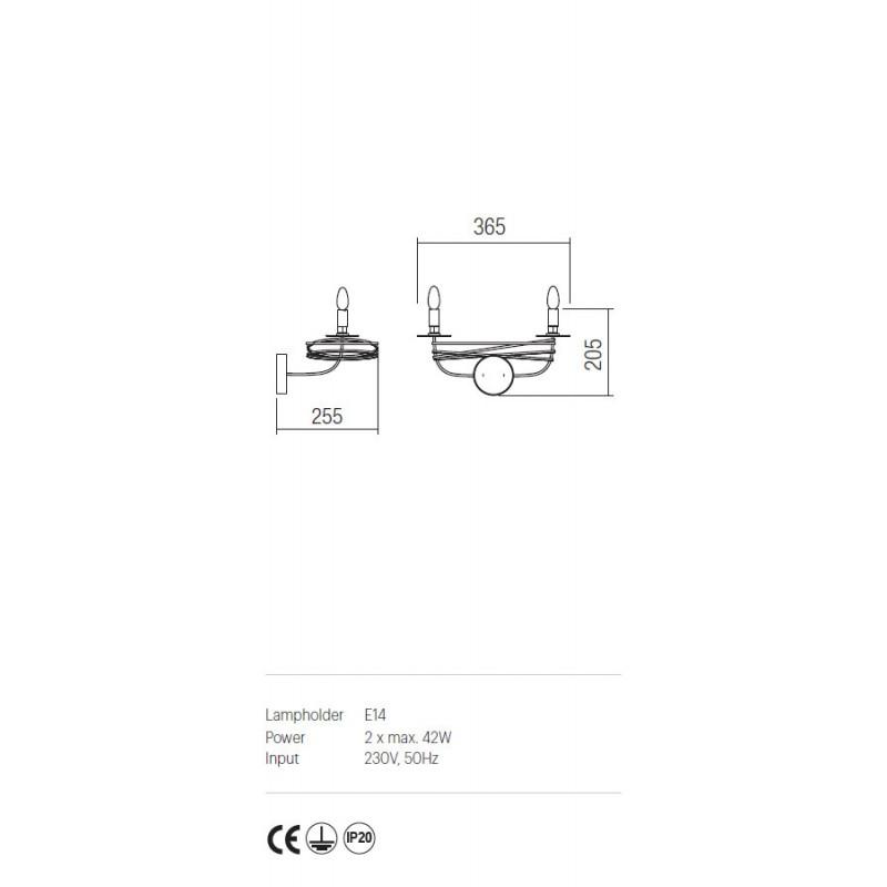 Aplica Circus structura din metal lucrat manual ICU W2 03 Incanti