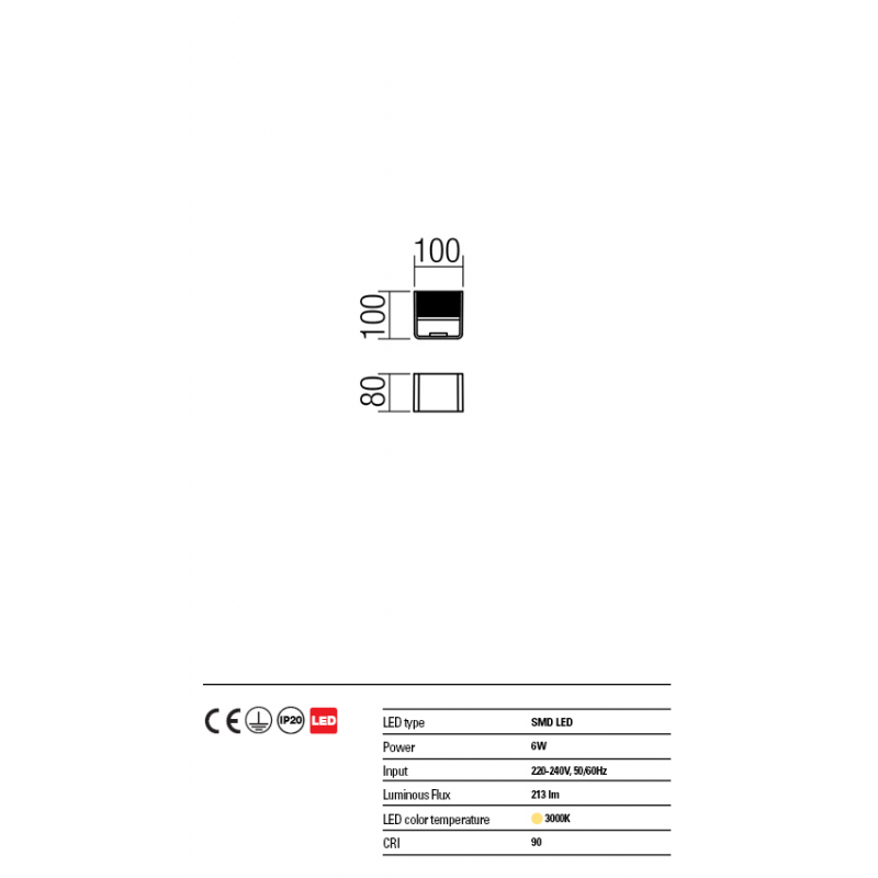 Aplica Duel din aluminiu cu Led-uri SMD 01-1341 Redo