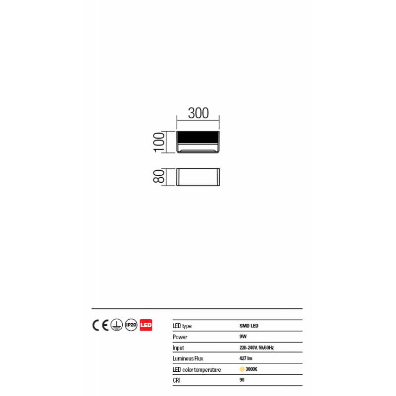 Aplica Duel din aluminiu cu Led-uri SMD 01-1342 Redo