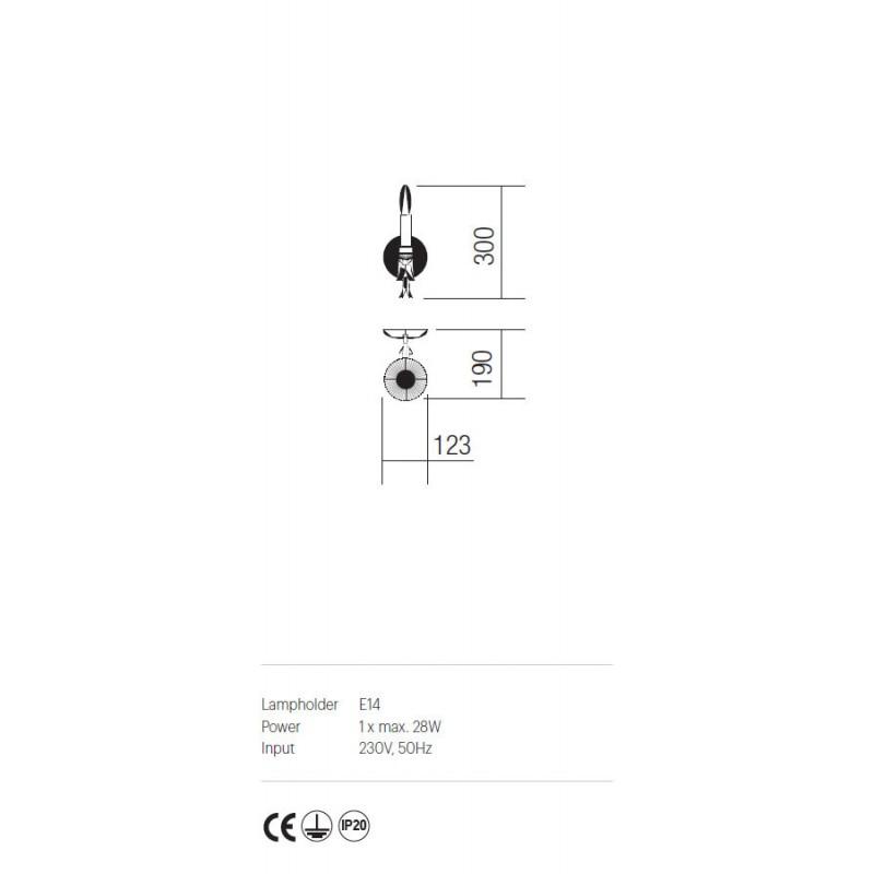 Aplica Etoile structura din metal finisata maron IET W1 02 Incanti