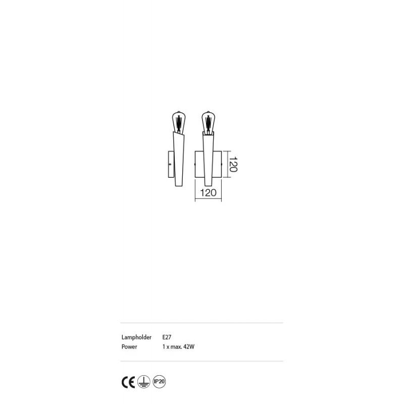 Aplica Galea structura din metal cu elemente metalice IGL W1 06 12 Incanti