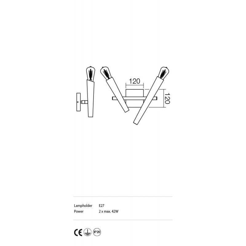 Aplica Galea structura din metal cu elemente metalice IGL W2 06 12 Incanti