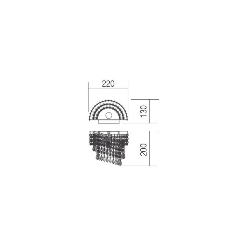 Aplica Coco structura metal cromat si cristale ICC W1 10 60 Incanti