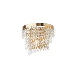 Aplica Coco structura metal aurit si cristale ICC W1 11 60 Incanti