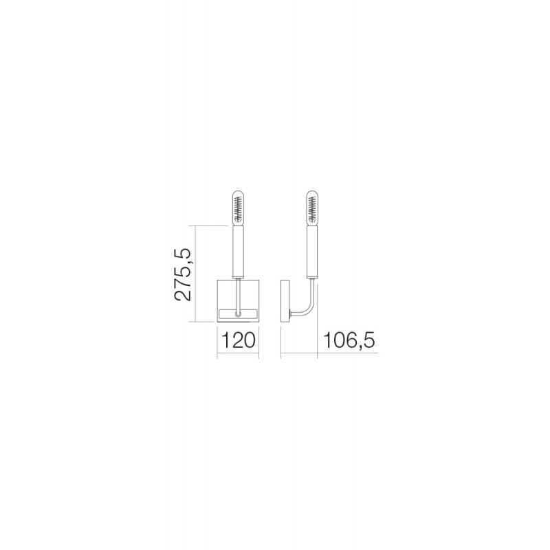 Aplica Konig structura din metal cu elemente metalice IKN W 06 12 Incanti