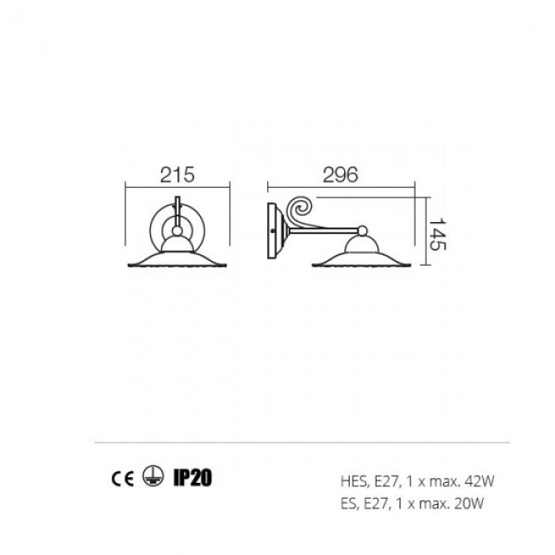 Aplica Lea structura din metal 02-800 CF21 Redo