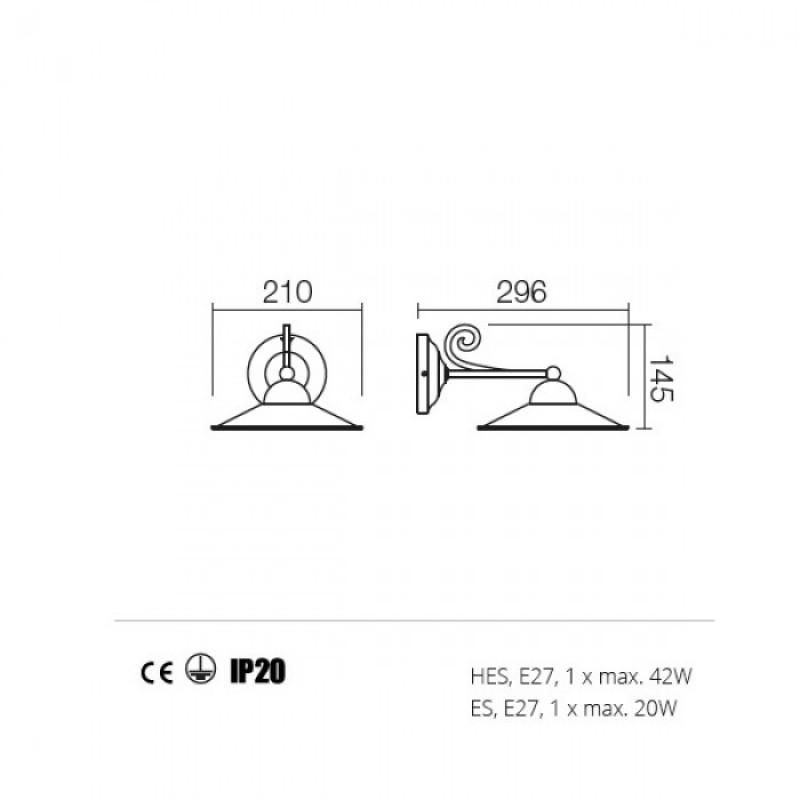 Aplica Lea structura din metal 02-800 M21 Redo
