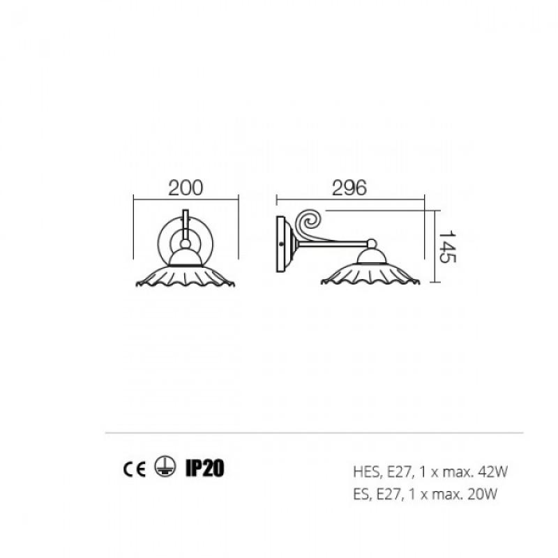 Aplica Lea structura din metal 02-800 CC20 Incanti