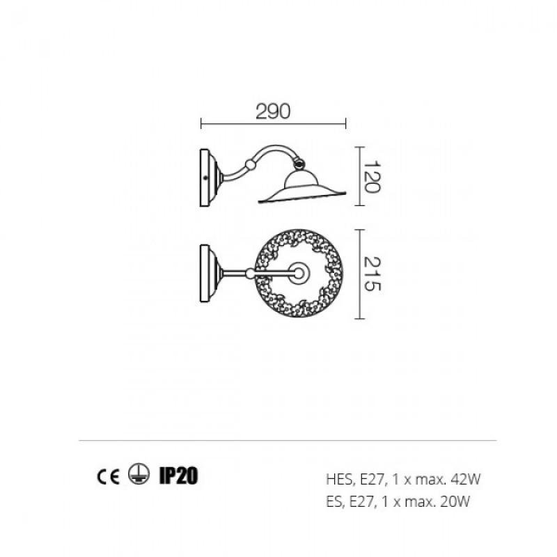 Aplica Lea structura din metal 02-801 CF21 Redo