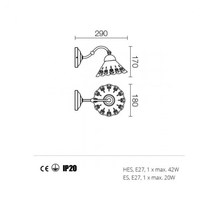 Aplica Lea structura din metal 02-801 CT18 Redo