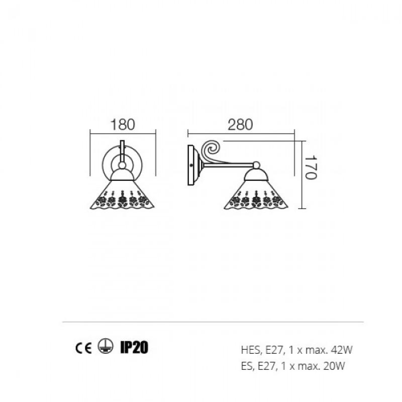 Aplica Lea structura din metal 02-800 CT18 Redo