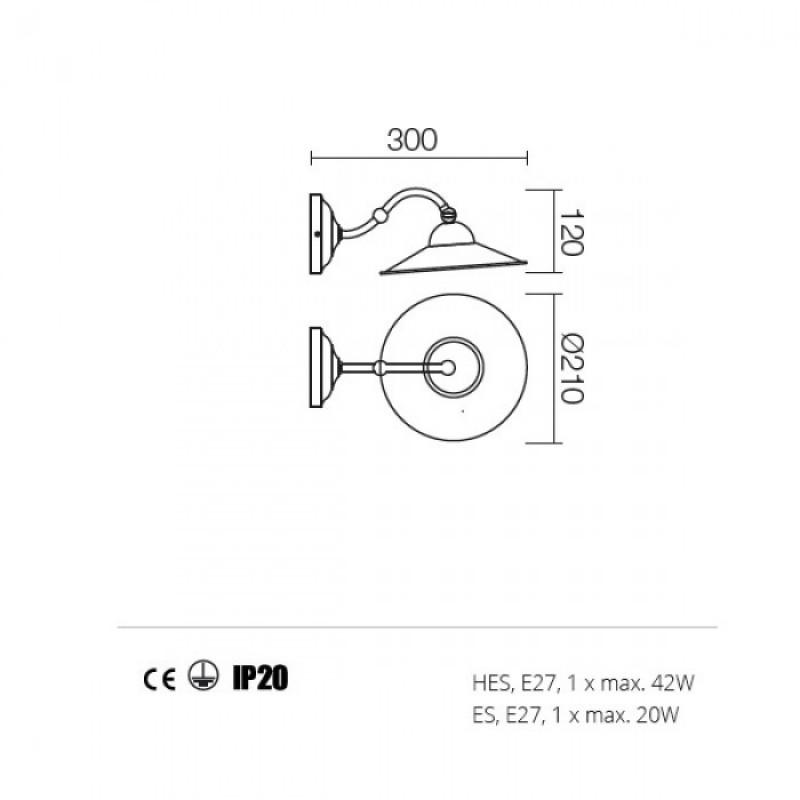 Aplica Lea structura din metal 02-801 M21 Redo
