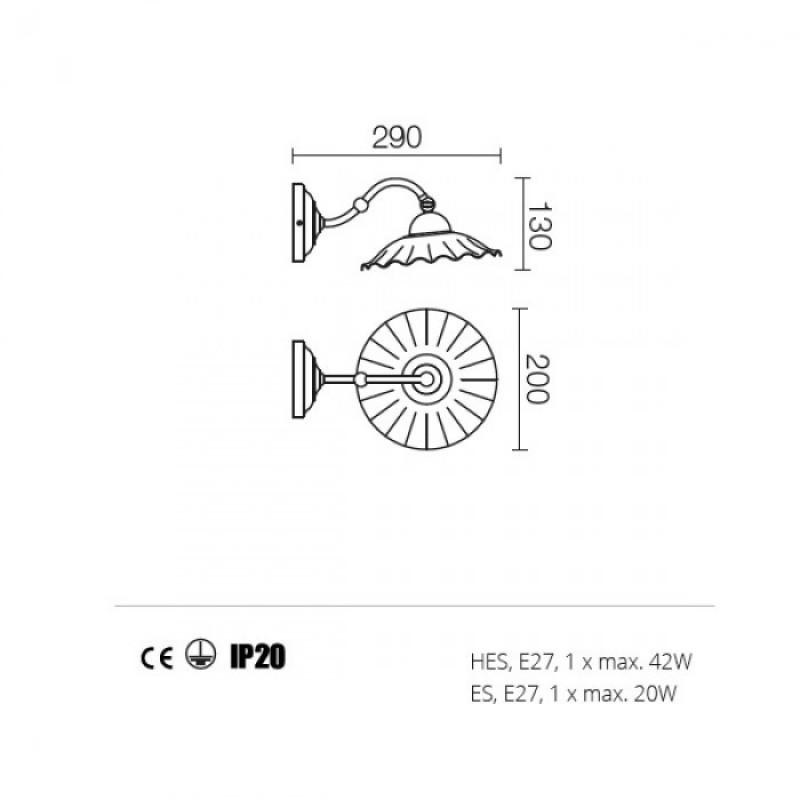 Aplica Lea structura din metal 02-801 CC20 Redo
