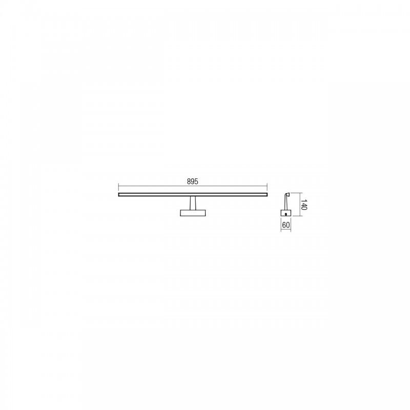 Aplica LED pentru baie Neptune, alb mat,18W, 01-1678