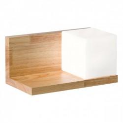 Aplica Nook pentru interior structura din lemn natur cu abajur din sticla suflata alb opal 01-1208 Redo
