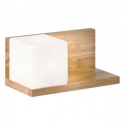 Aplica Nook pentru interior structura din lemn natur cu abajur din sticla suflata stanga 01-1209 Redo