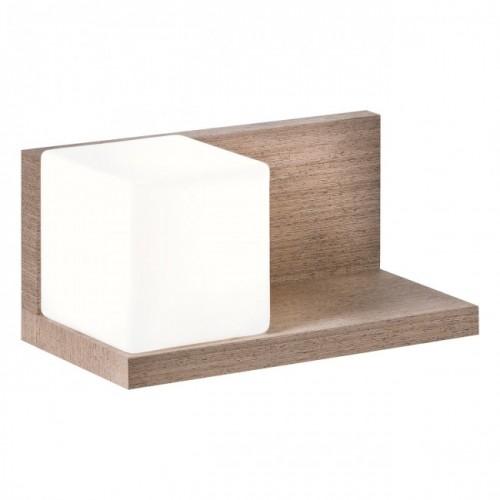 Aplica Nook pentru interior structura din lemn furniruit wenge cu abajur din sticla stanga 01-1211 Redo